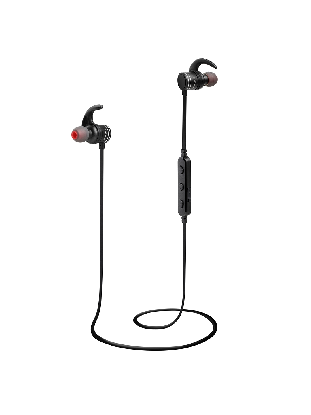 Red Lemon Unisex Black Dhoom Plus Bluetooth Magnetic Sports Wireless Headphones