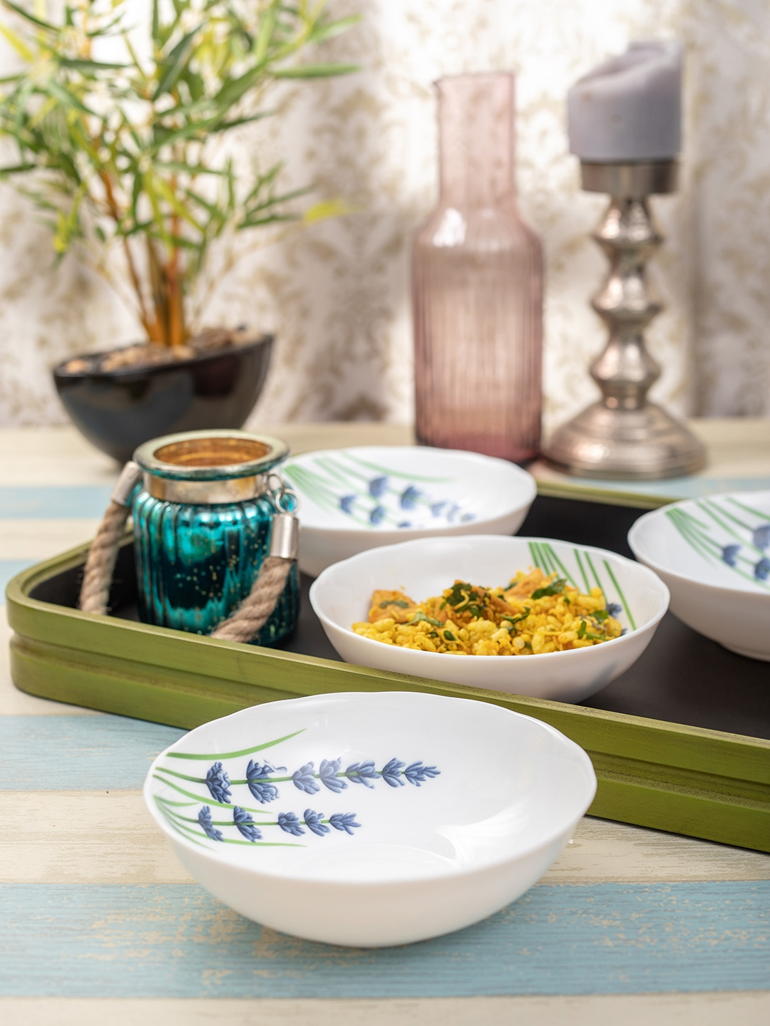 Laopala White 4 Pcs Serving Bowl Set