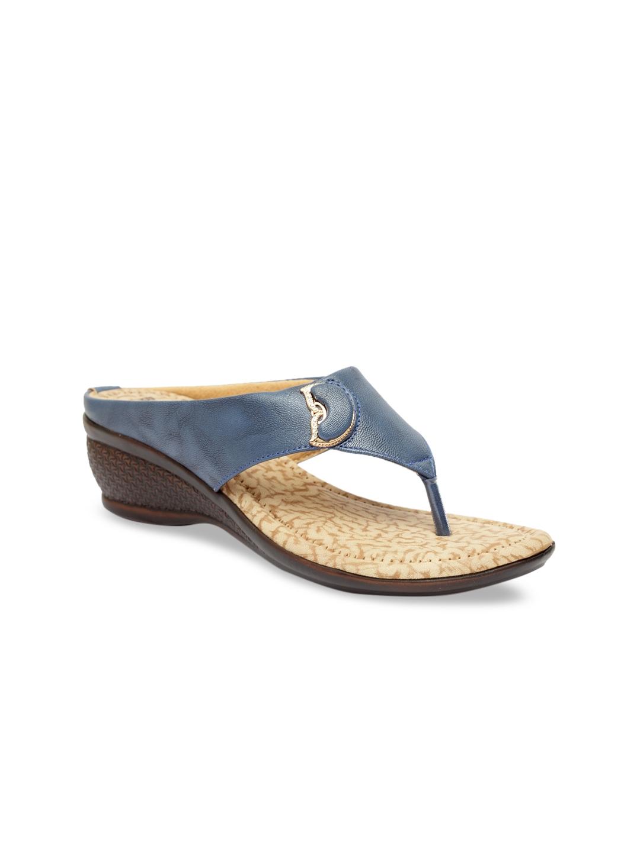 Butterflies Women Blue   Beige Solid Wedge Heels