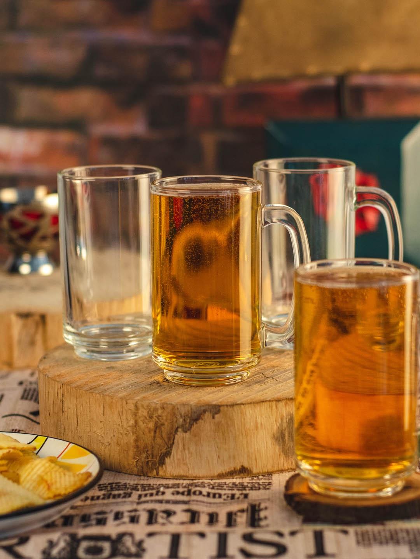 GOODHOMES Transparent Set of 6 Glass Mugs