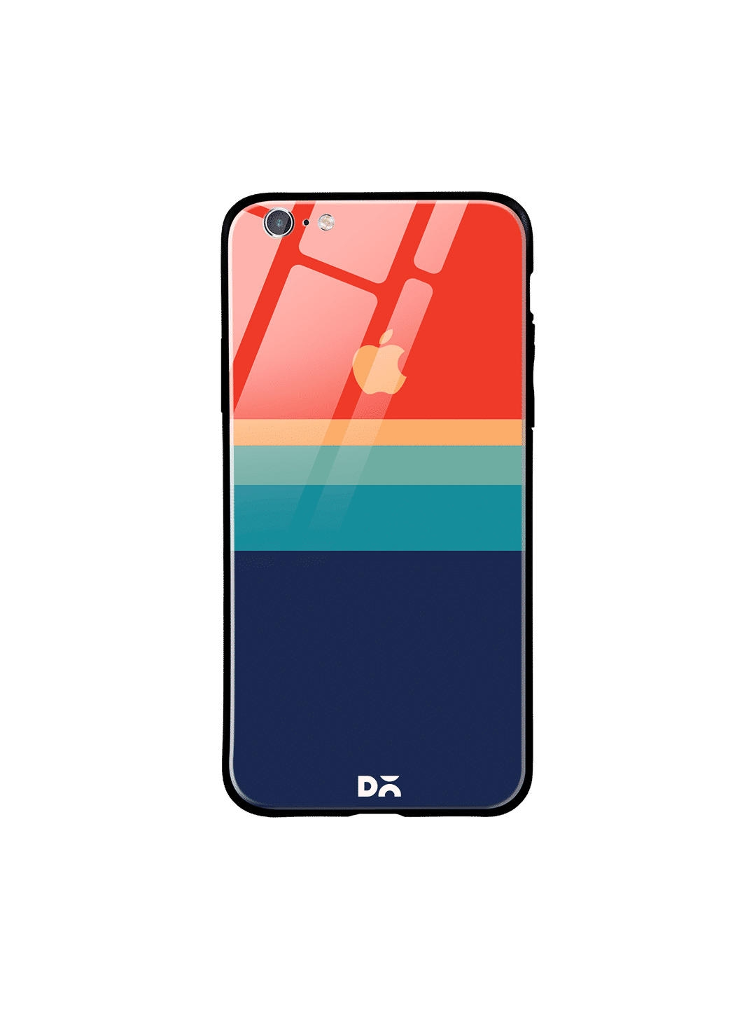 DailyObjects Unisex Blue   Red Colourblocked iPhone 6 Glass Mobile Cover
