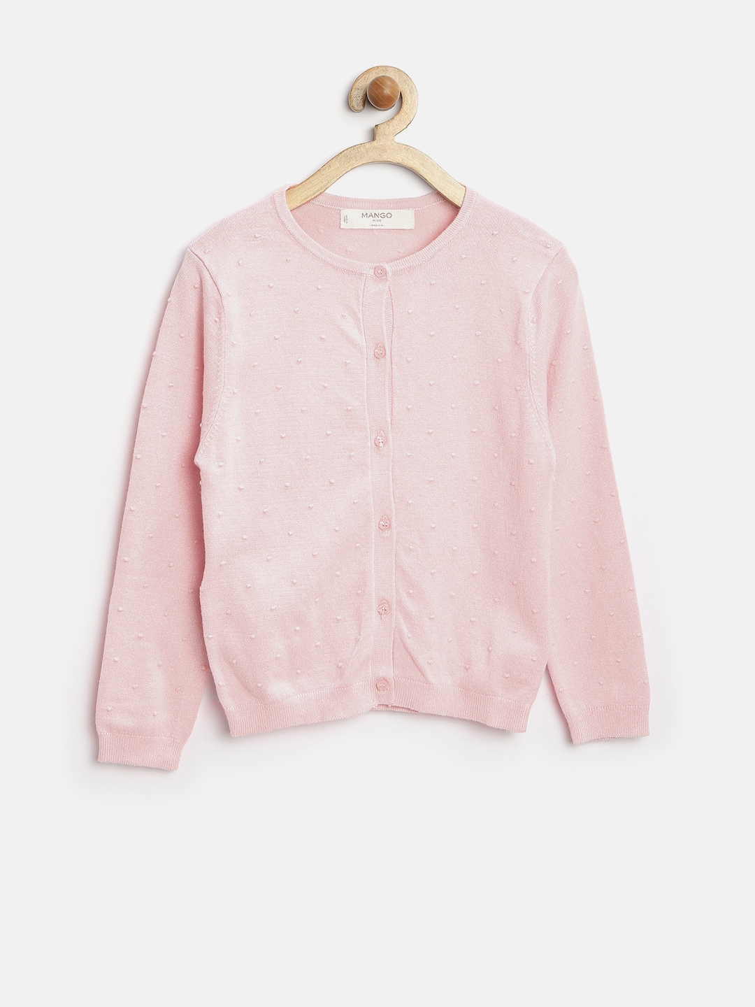 Buy Mango Kids Girls Peach Coloured Sweater - Sweaters for Girls ...