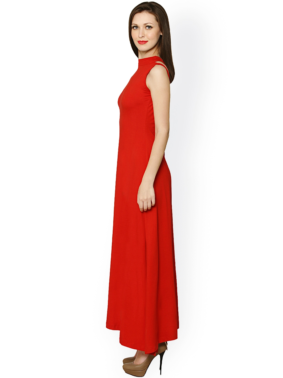 a2793752a1d Buy Miss Chase Red Maxi Dress - Dresses for Women 1193351