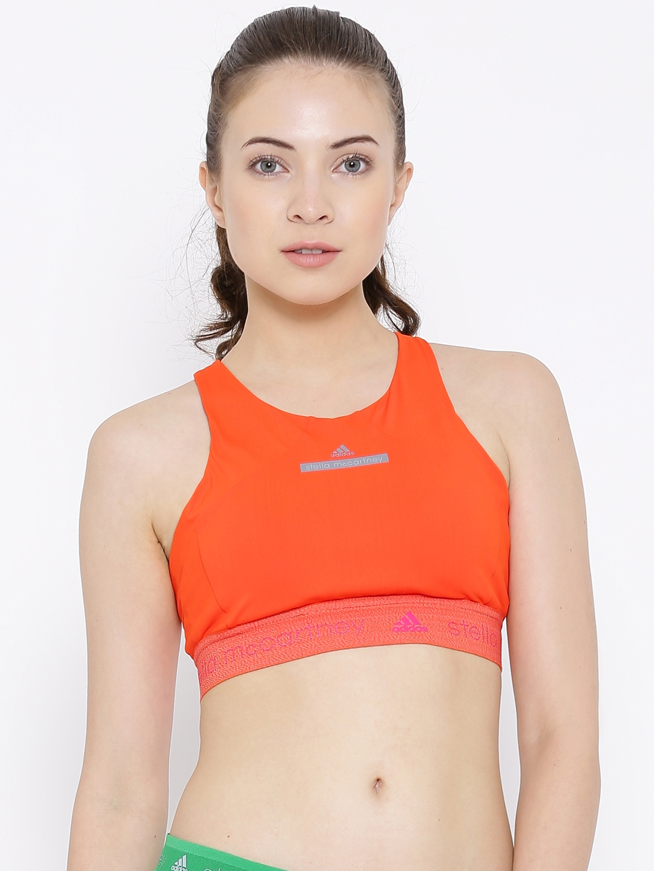0d5cc57aea Buy Stella McCartney By ADIDAS Orange CLMCH Sports Bra - Bra for ...