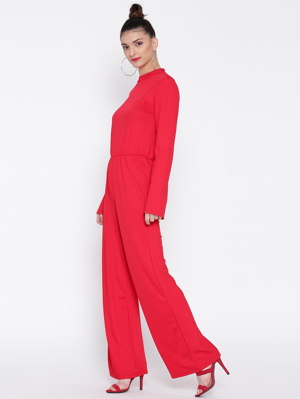 c6df4ecca86d Buy Vero Moda Red Cut Out Back Jumpsuit - Jumpsuit for Women 1194934 ...