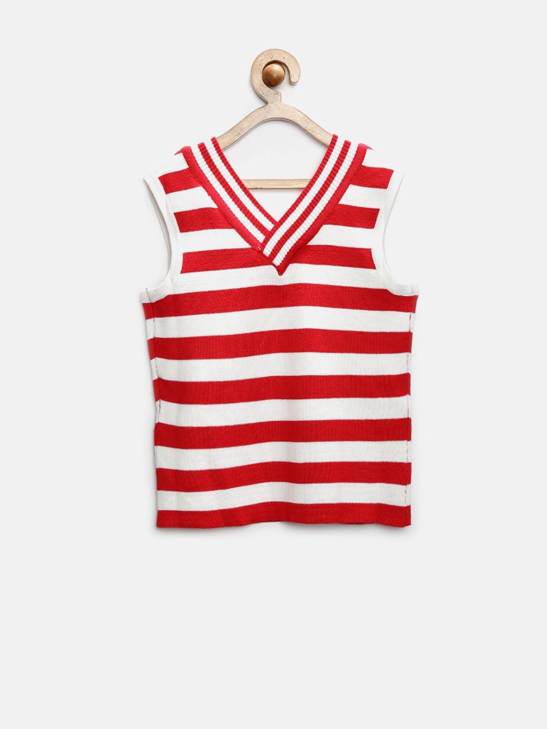 57f52eceec8 Buy Tiny Girl Red   White Striped Top - Tops for Girls 1200296