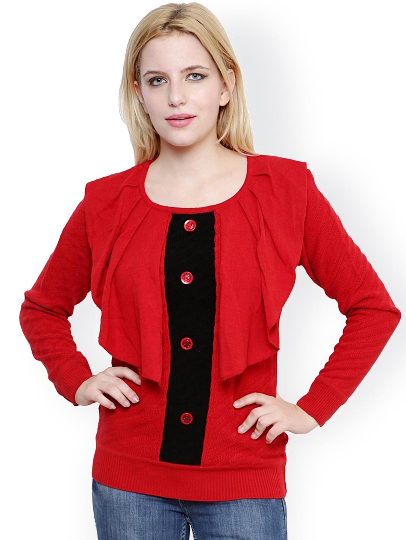 3638b687e2 Buy Renka Red Sweater - Sweaters for Women 1201964