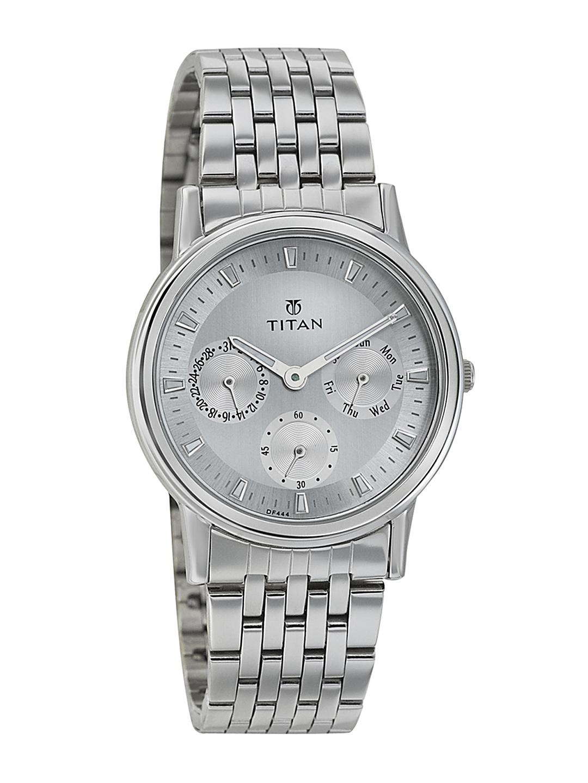 Titan Women Silver Toned Dial Watch 2557SM01