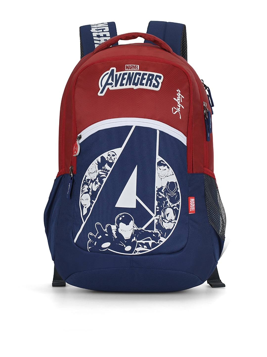Skybags Unisex Red   Navy Blue Graphic MARVEL 10 Backpack