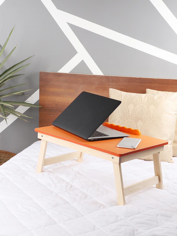 CDI Orange Solid Portable Folding Laptop Cum Study Table