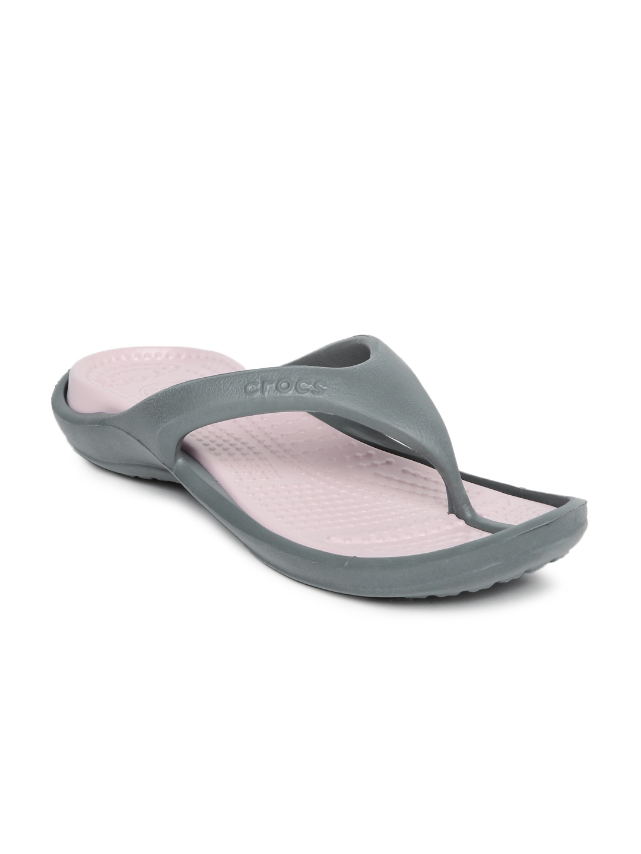 faa2f3911ecbe Buy Crocs Unisex Grey   Pink Athens II Flip Flops - Flip Flops for ...