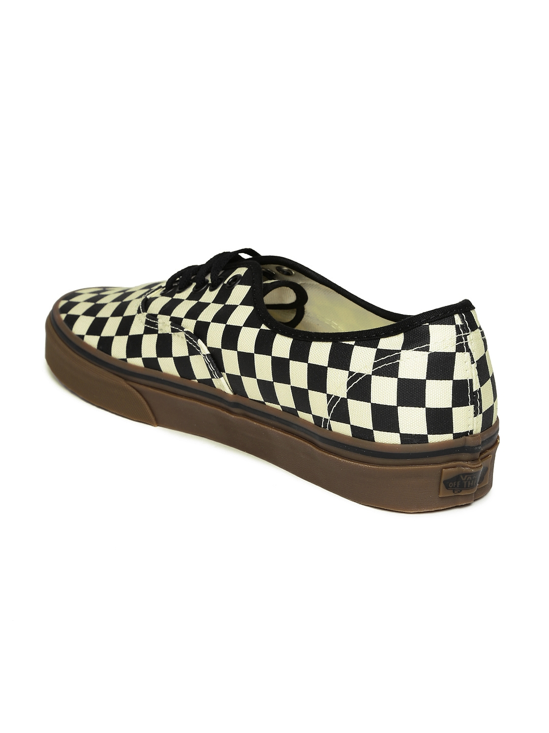 6635f5fcd1 Buy Vans Unisex Black   Off White Checked Authentic Casual Shoes ...