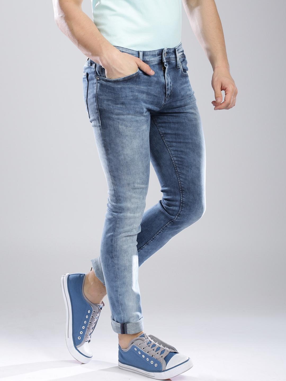 cfd45bf1 Buy Tommy Hilfiger Blue Super Skinny Saxton Jeans - Jeans for Men ...