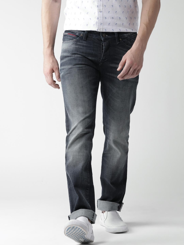 393e9e4c Buy Tommy Hilfiger Navy Scanton Slim Fit Stretchable Jeans - Jeans for Men  1209230 | Myntra