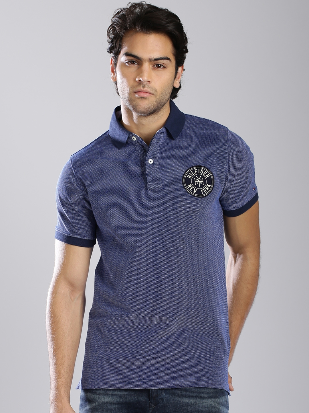 bf2bf0d3f8 Buy Tommy Hilfiger Navy Venice Polo T Shirt - Tshirts for Men ...