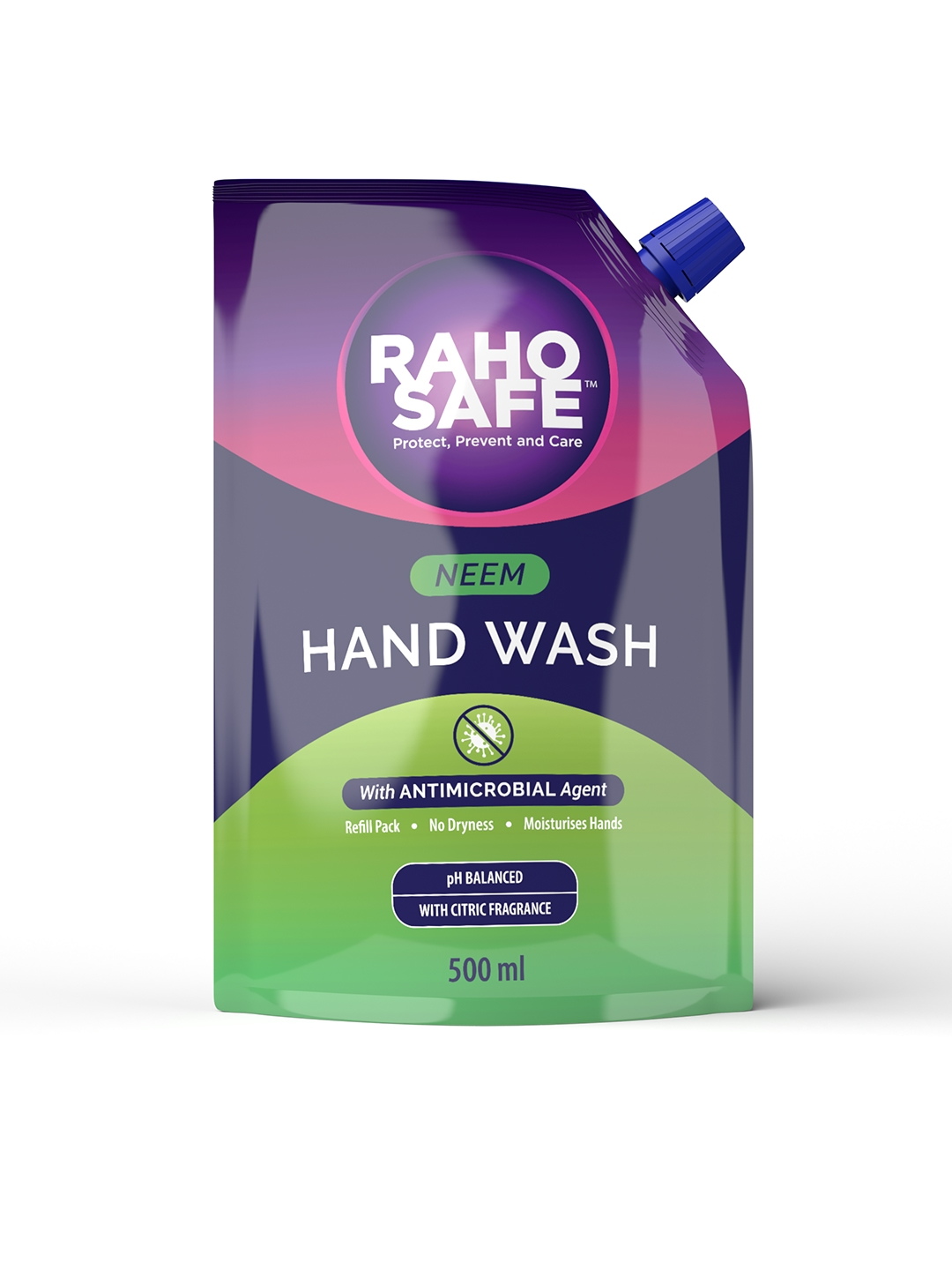 Raho Safe Pack of 2 Neem Hand Wash 500ml Refill Pack