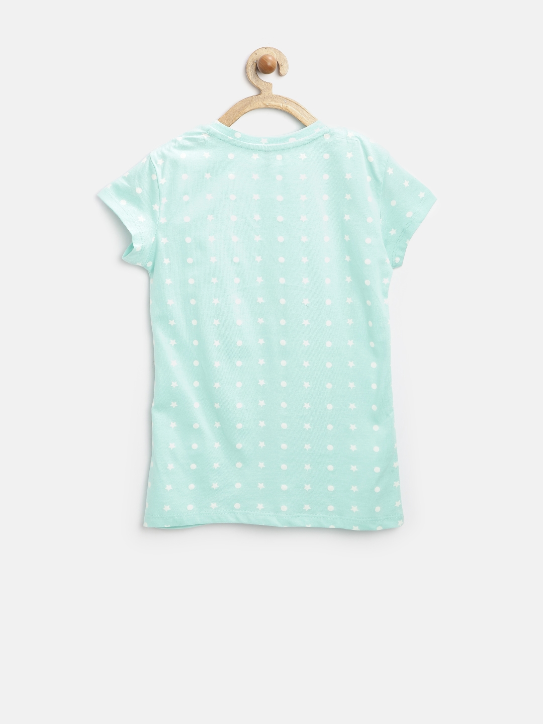 be932f0394a Buy United Colors Of Benetton Girls Mint Green Printed T Shirt ...