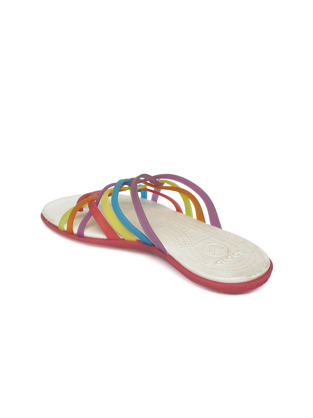d76b8a0a0e8d Buy Crocs Women Multicoloured Strappy Huarache Flip Flops - Flip ...