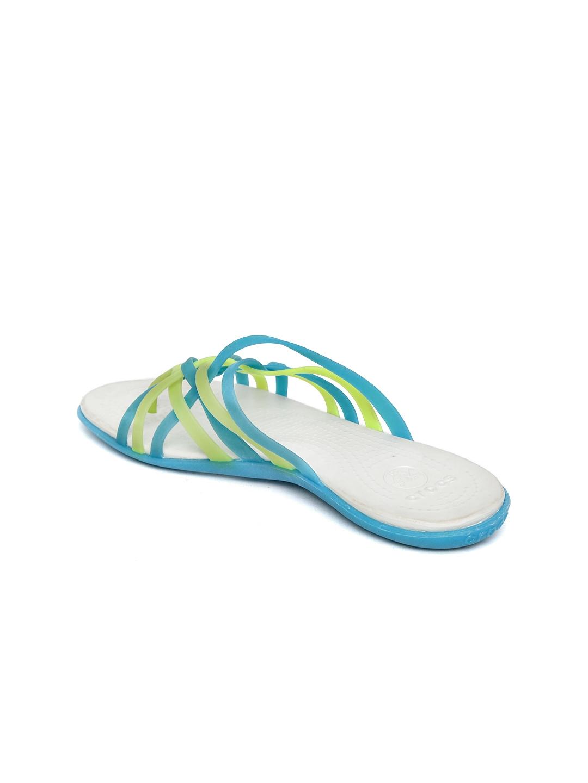 fc0e9c7b0d2a Buy Crocs Women Blue Strappy Huarache Flip Flops - Flip Flops for ...