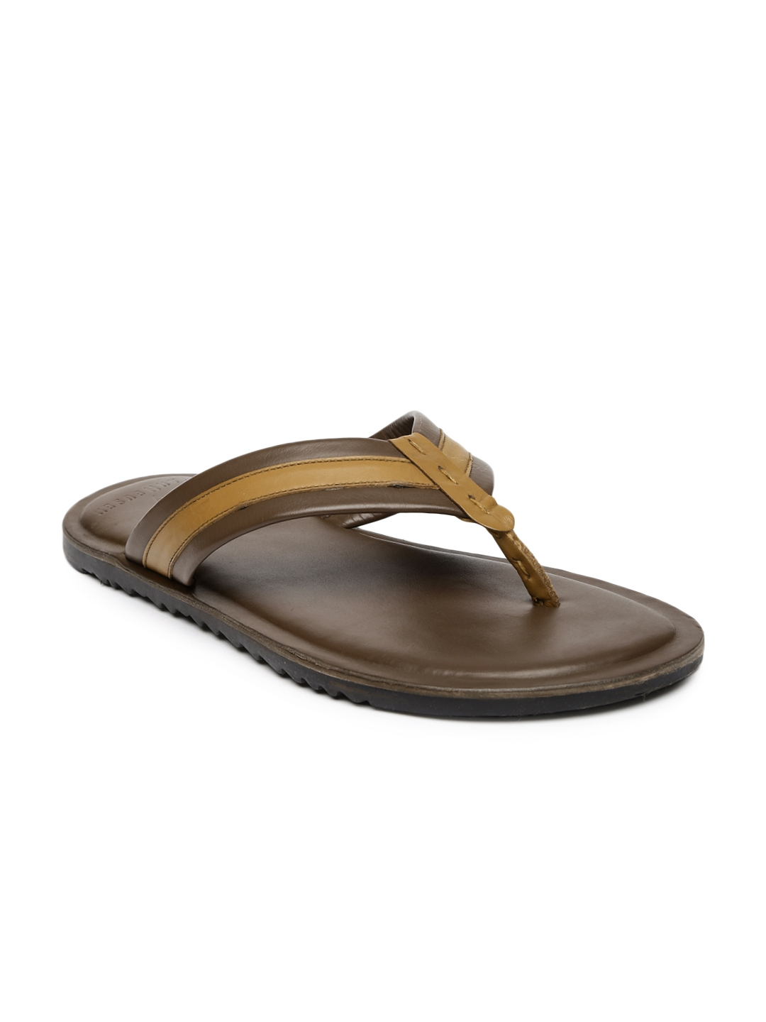 Buy Van Heusen Men Brown Leather Sandals - Sandals for Men 1218059 ... 95132ff98