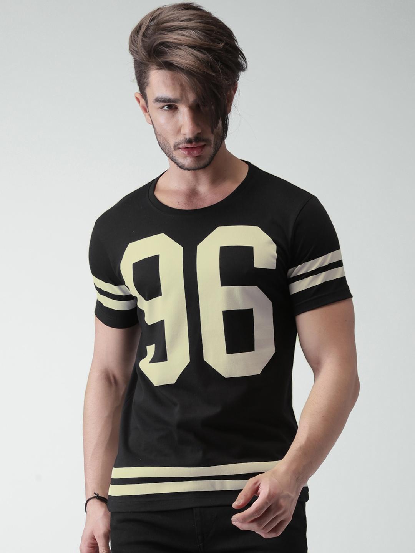 Buy Moda Rapido Black Printed T Shirt - Tshirts for Men | Myntra