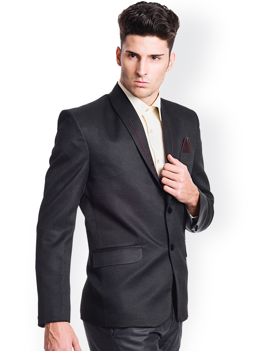 c1147a34249b Buy Wintage Black Single Breasted Tailored Fit Formal Blazer ...