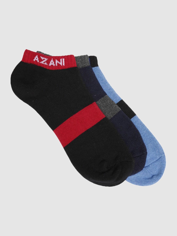 Azani Men Assorted Set of 3 Comfort Low Cut Ankle Length Socks