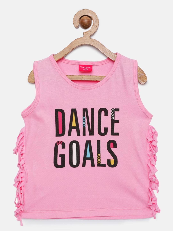 Tiny Girl Girls Pink Printed Top