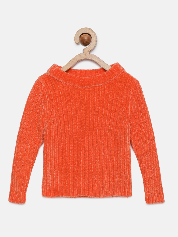Tiny Girl Girls Orange Solid Top