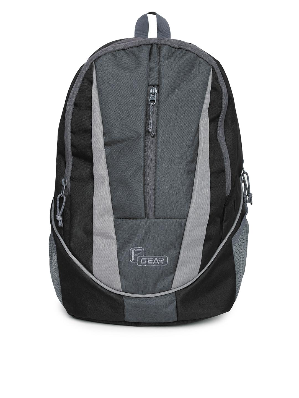 F Gear Unisex Black   Grey Flame V2 Backpack