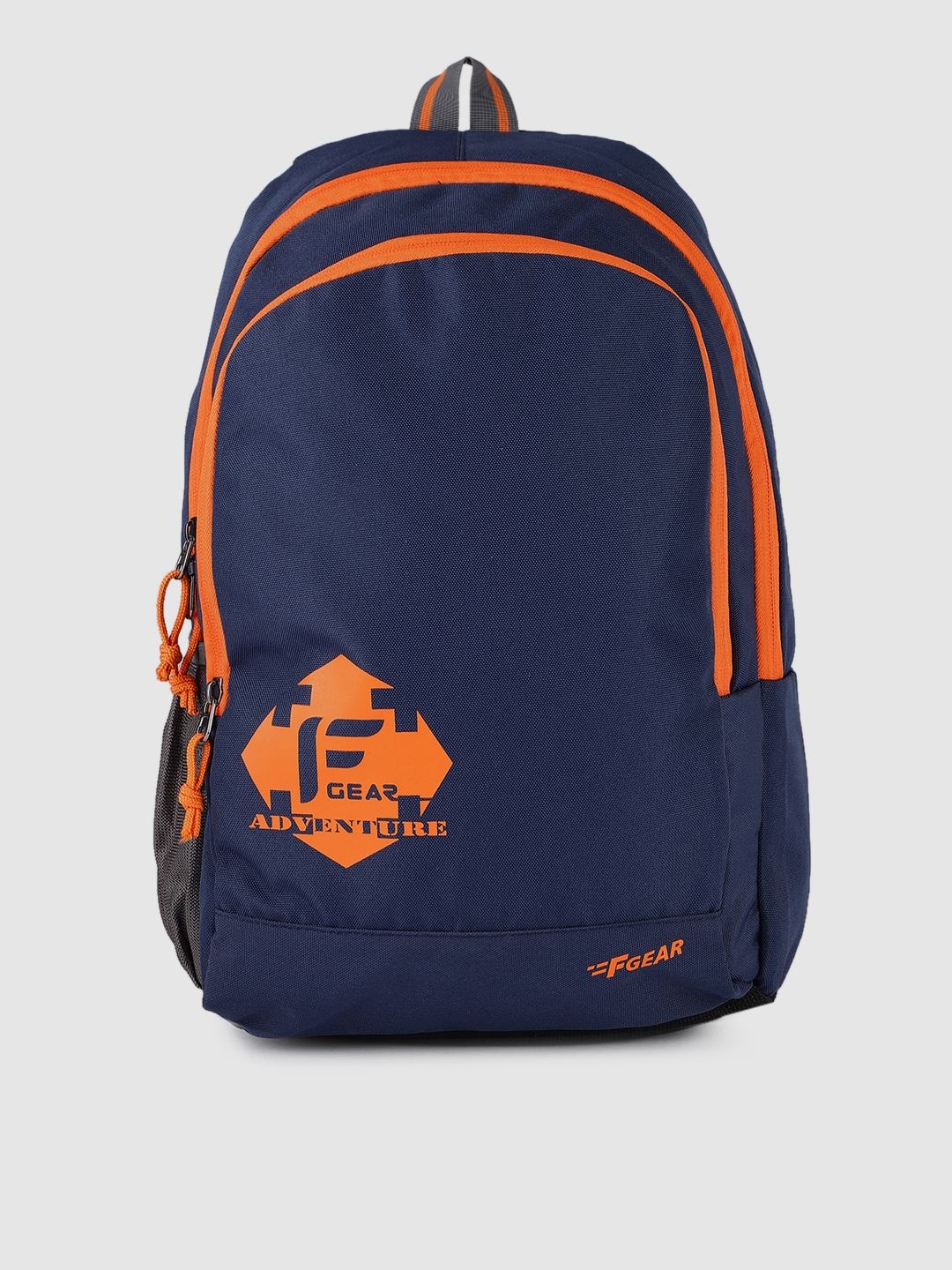 F Gear Unisex Navy Blue Brand Logo Castle Rugged Base Laptop Backpack