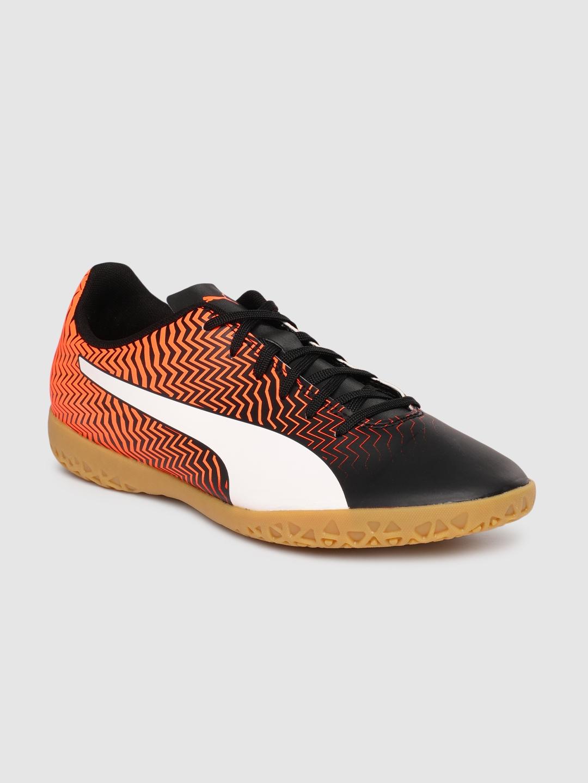 Puma Men Orange Synthetic Football Shoes