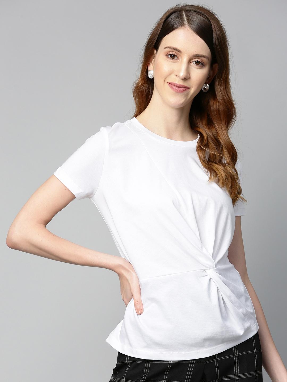 SASSAFRAS Women White Solid Top