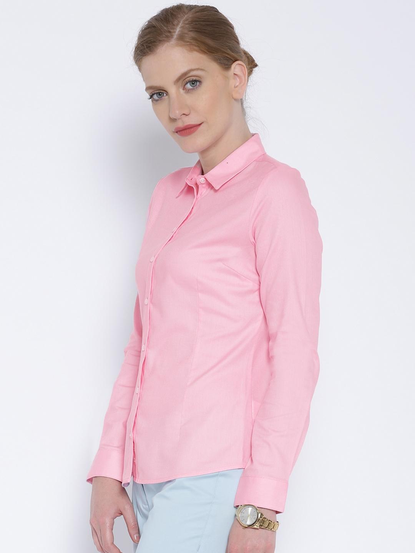 Buy Van Heusen Woman Pink Smart Casual Shirt Shirts For Women