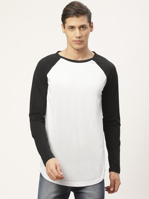 PAUSE SPORT Men White   Black Solid Round Neck T shirt