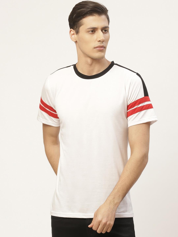 PAUSE SPORT Men White Solid Round Neck T shirt