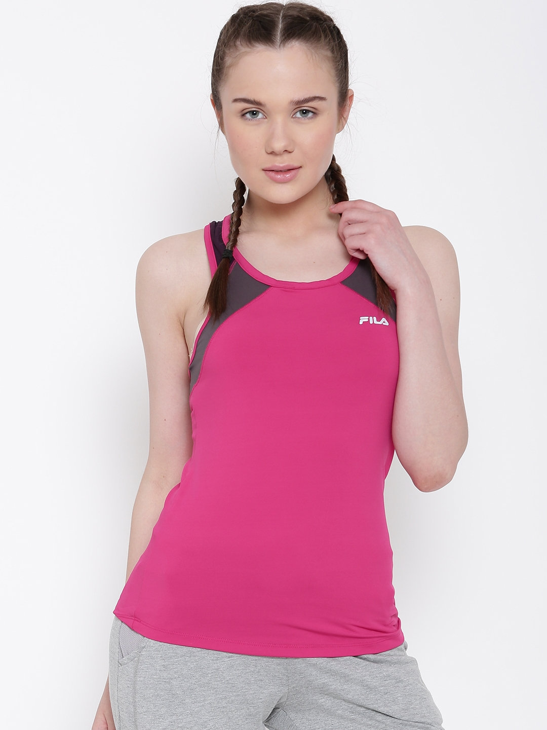 385ad81a01ab8 Buy FILA Pink Selma Panelled Tank Top - Tops for Women 1232021