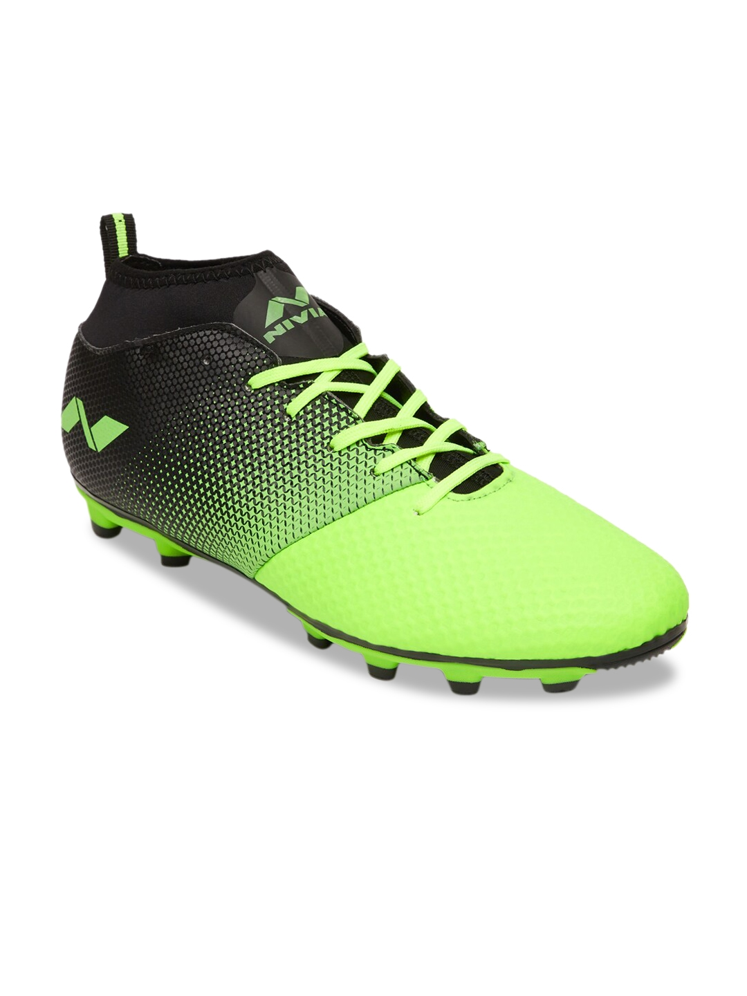 NIVIA Men Fluorescent Green   Black ASHTANG Football Shoes