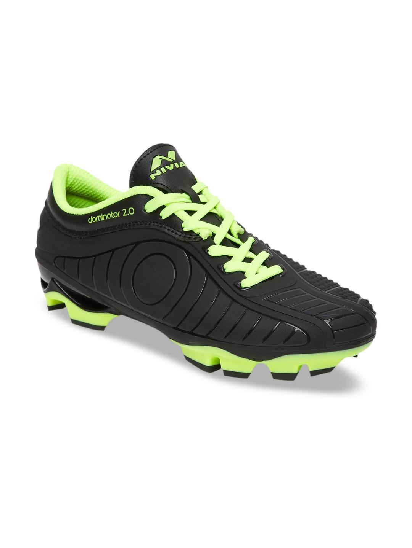 NIVIA Men Black PU Dominator 2.0 Football Shoes