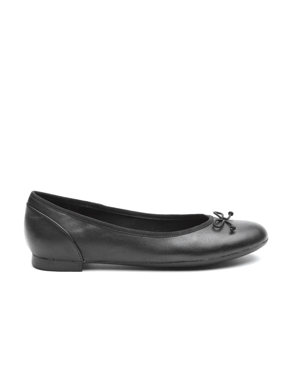 cf81653e8d191 Buy Clarks Women Black Leather Ballerinas - Flats for Women 1236069 ...