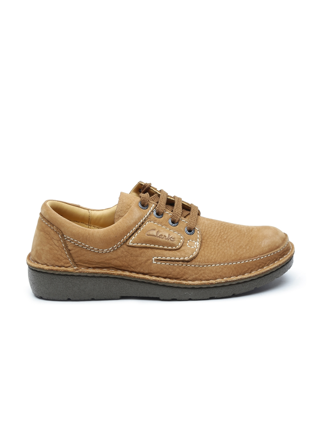 a0e95767b6a4 Buy Clarks Men Brown Nature II Birch Tumbled Nubuck Leather Casual ...
