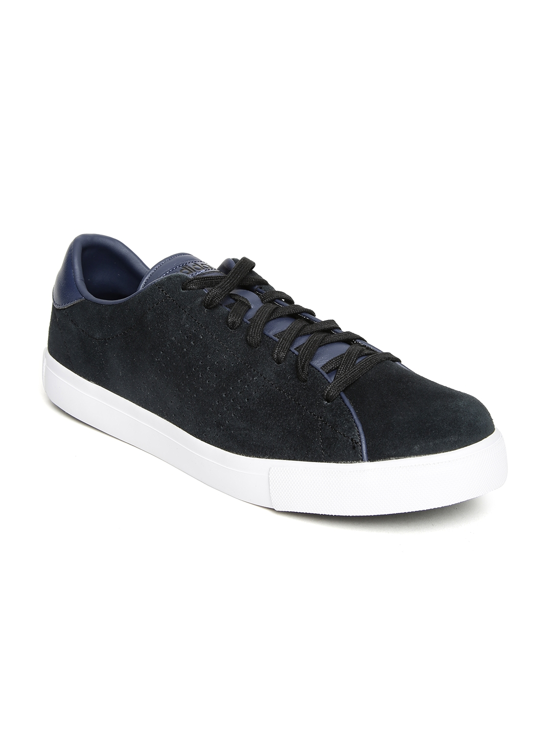 new style 7e5f6 89d30 Buy ADIDAS NEO Men Black Daily Line Suede Sneakers - Casual Shoes for Men  1236824  Myntra