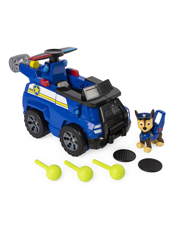 PAW PATROL Kids Blue   Black Flip   Fly 2 in 1 Transforming Toy Vehicle