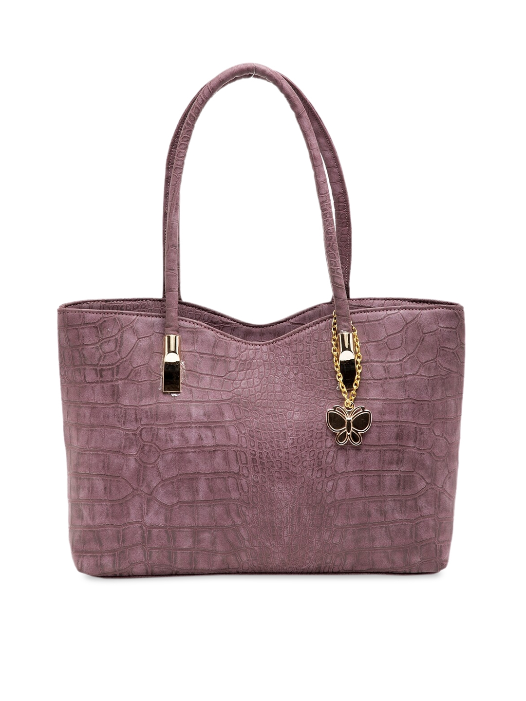 Butterflies Purple Textured Shoulder Bag
