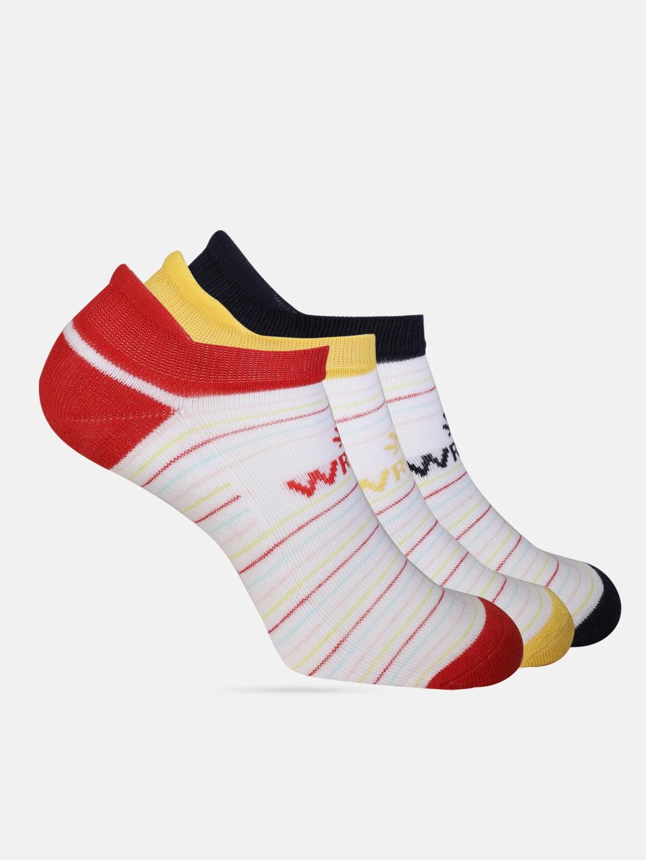 WROGN Men Pack of 3 Striped Ankle Length Socks