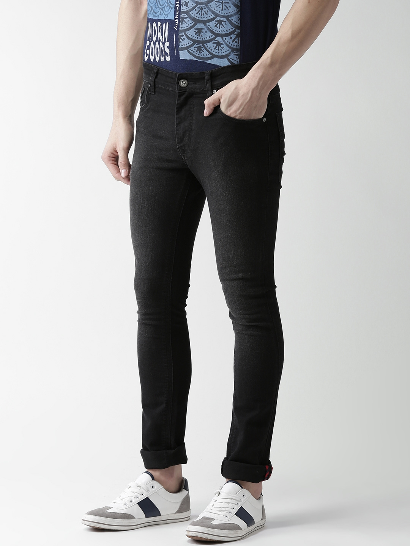 0237d573d986f Buy Harvard Men Black Skinny Fit Mid Rise Clean Look Stretchable ...