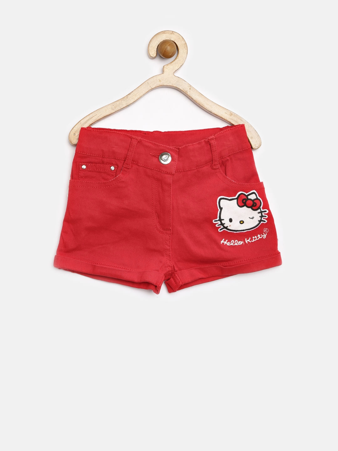 9ba40db75 Buy Hello Kitty By Kids Ville Girls Red Shorts - Shorts for Girls ...