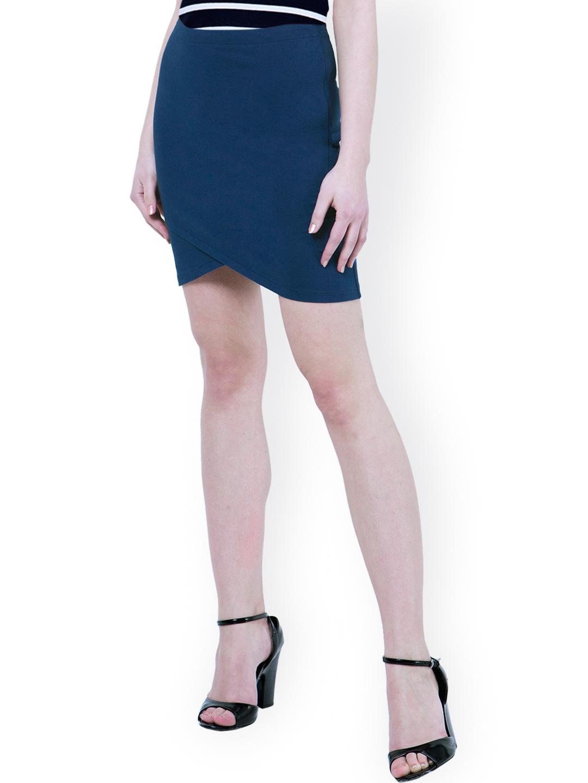 587d555ebf Buy FabAlley Blue Tulip Skirt - Skirts for Women 1244626   Myntra