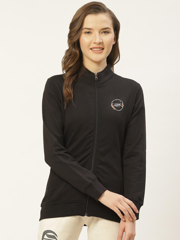 Duke Women Black Solid Sweatshirt