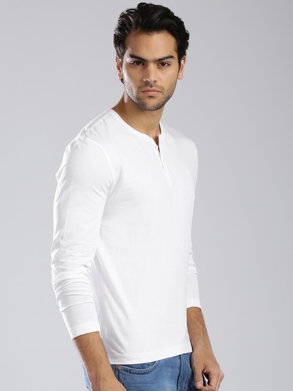 431d124ccadc Buy Bossini White Henley T Shirt - Tshirts for Men 1251974   Myntra